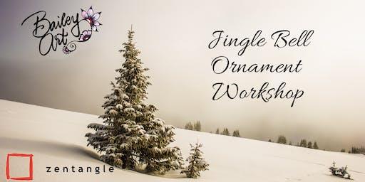 Zentangle Jingle Bell Ornament Workshop (Step 2 Equivalent)