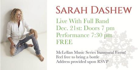 Sarah Dashew & Band: McLellan Music Series tickets