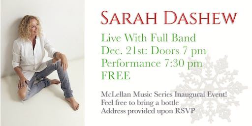 Sarah Dashew & Band: McLellan Music Series