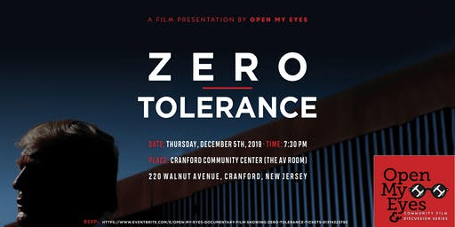 Open My Eyes Documentary Film Showing and Discussion:  Zero Tolerance