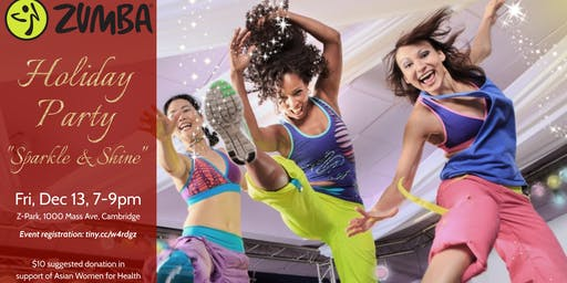 "AWFH ""Sparkle & Shine"" Zumba Holiday Party on 12/13!"