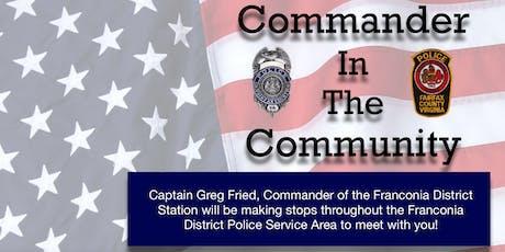 Commander In The Community - Lorton tickets