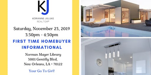 FREE FIRST TIME HOME BUYER INFORMATIONAL