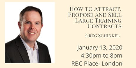 Greg Schinkel- How to Attract, Propose and Sell Large Training Contracts tickets