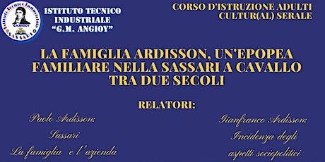 Convegno Cultur(al) serale: La famiglia Ardisson a Sassari. biglietti