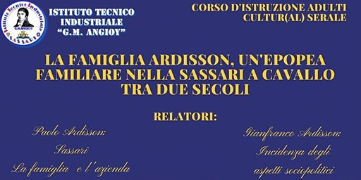 Convegno Cultur(al) serale: La famiglia Ardisson a Sassari.