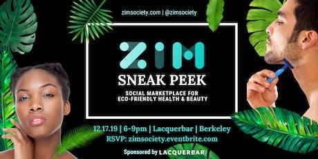 Sneak Peek: ZiM - social marketplace for eco-friendly health & beauty tickets