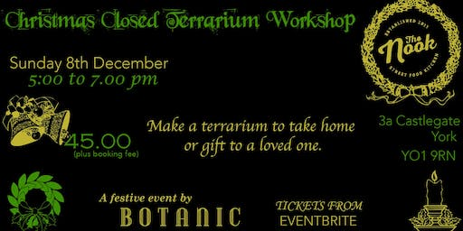Christmas Closed Terrarium Workshop
