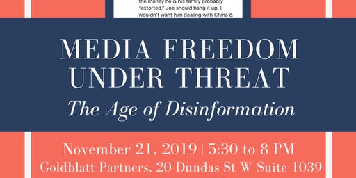 Media Freedom Under Threat: The Age of Disinformation