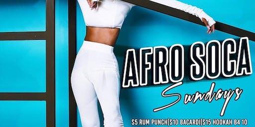 Afro Soca Sundays (Free RSVP) $5 Rum Punch|$6 Henny|$15 Hookah