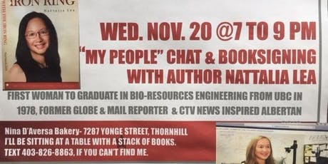 """MY PEOPLE"" CHAT & BOOKSIGNING WITH NATTALIA LEA, Lady with the Iron Ring tickets"