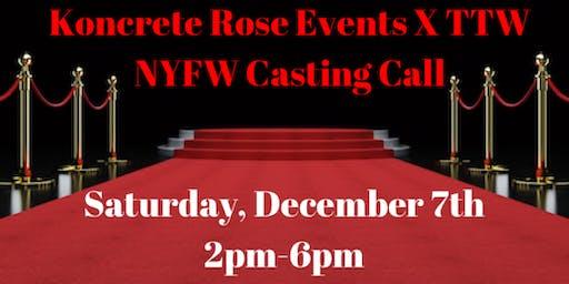 NYFW Model Casting Call