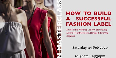 Fashion Masterclass: How to Build A Successful Fashion Label tickets