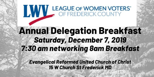 2019 Frederick County LWV Delegation Breakfast