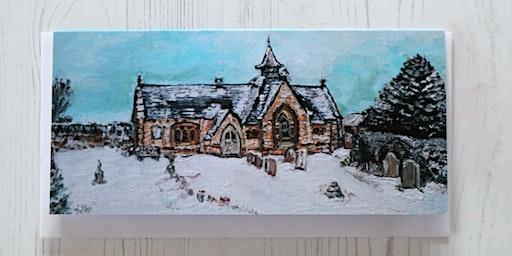 Acrylic Family Winter Wonderland Painting Workshop