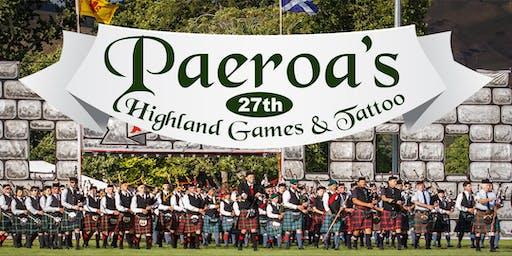 2020 Paeroa Highland Games & Tattoo