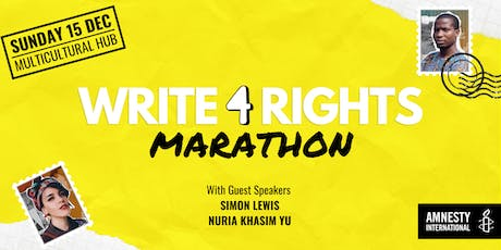 Write for Rights Marathon 2019 tickets
