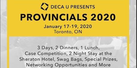 DECA Ryerson x DECA U Provincials 2020 tickets