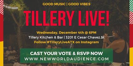 Tillery Live! Artist Showcase tickets