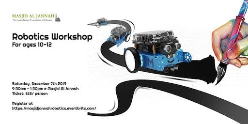 Robotics Workshop for Beginners (ages 10-12)