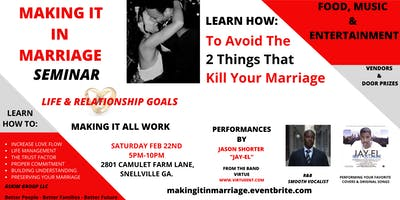 Making It In Marriage - Life & Relationship Goals