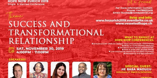 Hope  Now Zurich Single & Married Conference 2019