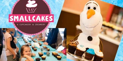 Frozen themed Cupcake Decorating Class