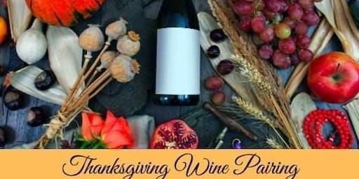 Thanksgiving Wine Pairing 11/19
