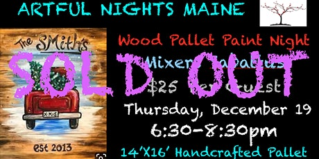 Wood Pallet Red Truck Paint Night tickets