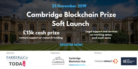 Cambridge Blockchain Prize Soft Launch tickets