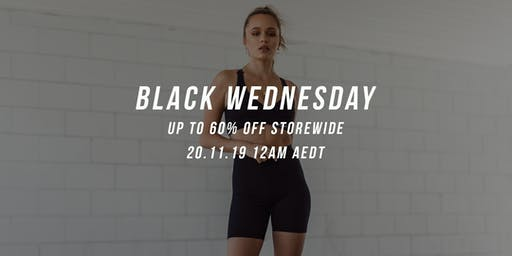 Black Wednesday - Up To 60% OFF Storewide