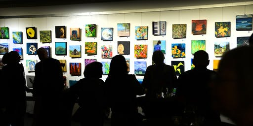 """December 5  6-9PM - NYA gallery 12""""X12"""" Show """"A Sea of Art"""" Holiday Party"""