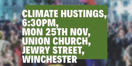 Climate Hustings: what's your plan?