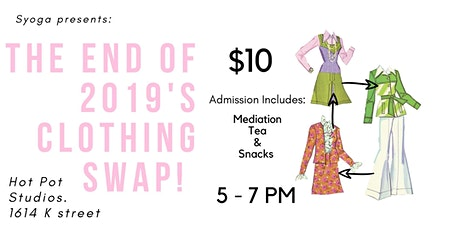 The End of 2019's Clothing Swap! tickets