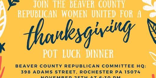 Beaver County Republican Women United Thanksgiving Pot Luck Dinner