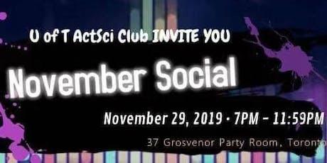 UofT Actuarial Science Club November Social tickets