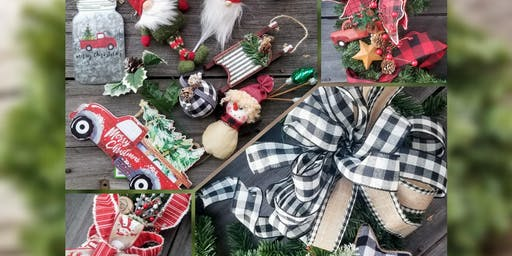 Holiday Faux Evergreen Wreath Making Class