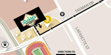 DAVID'S GAMEDAY (Includes Parking) 49ers VS Falcons -Dec 15th- YELLOW LOT tickets