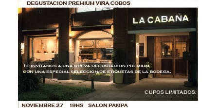 Degustación Premium de Viña Cobos en La Cabaña