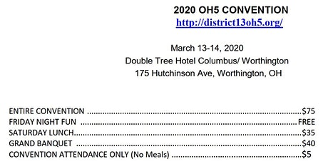 2020 Ohio Lions District 13-OH5 Convention tickets