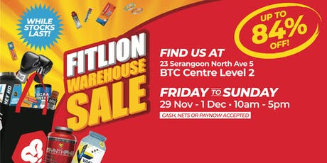 Fitlion Warehouse Sale tickets