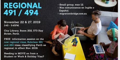 Do You Want a Visa Strategy?  - FREE - NEW 491 / 494 - Perth 2019 tickets