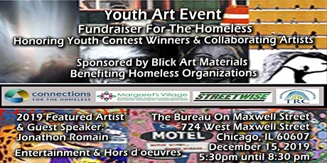 Youth Art Event & Fundraiser To Support The Homeless. tickets