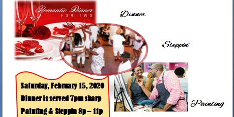 Valentine's  Dinner, Paint & Step Party