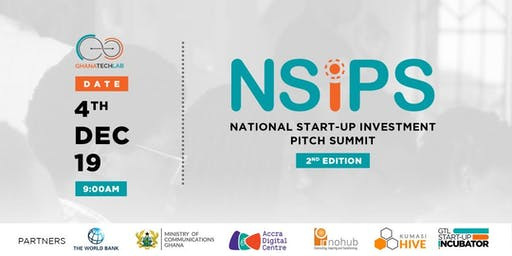 National Start-Up Investment Pitch Summit - 2nd Edition