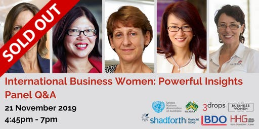 Perth, BWA, International Business Women: Powerful Insights Panel Q&A