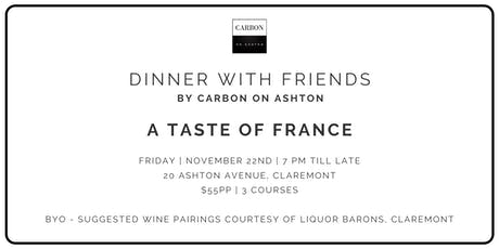 Dinner with Friends - A Taste of France tickets