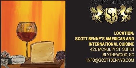 Scott Benny's Paint and Sip: Wine & Cheese with Local Artist Kalah