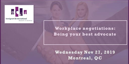 Workplace negotiations: Being your best advocate - Montreal, QC