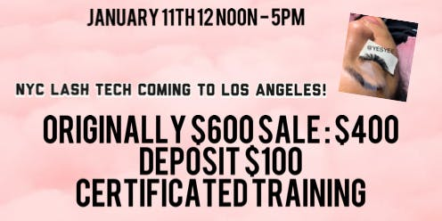 yesyee private eyelash extension class $400
